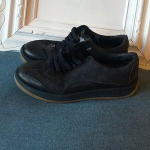 LOUIS VUITTON Dark Blue Denim Monogram Sneakers 39